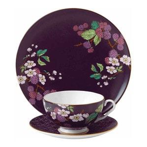 Тарелка заусочная 21см и чашка чайная с блюдцем