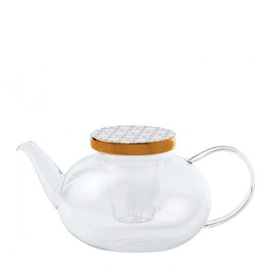 Стеклянный чайник заварочный